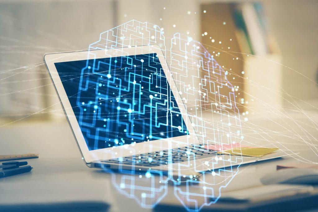 computador com inteligência artificial como exemplo de transformação digital nas empresas