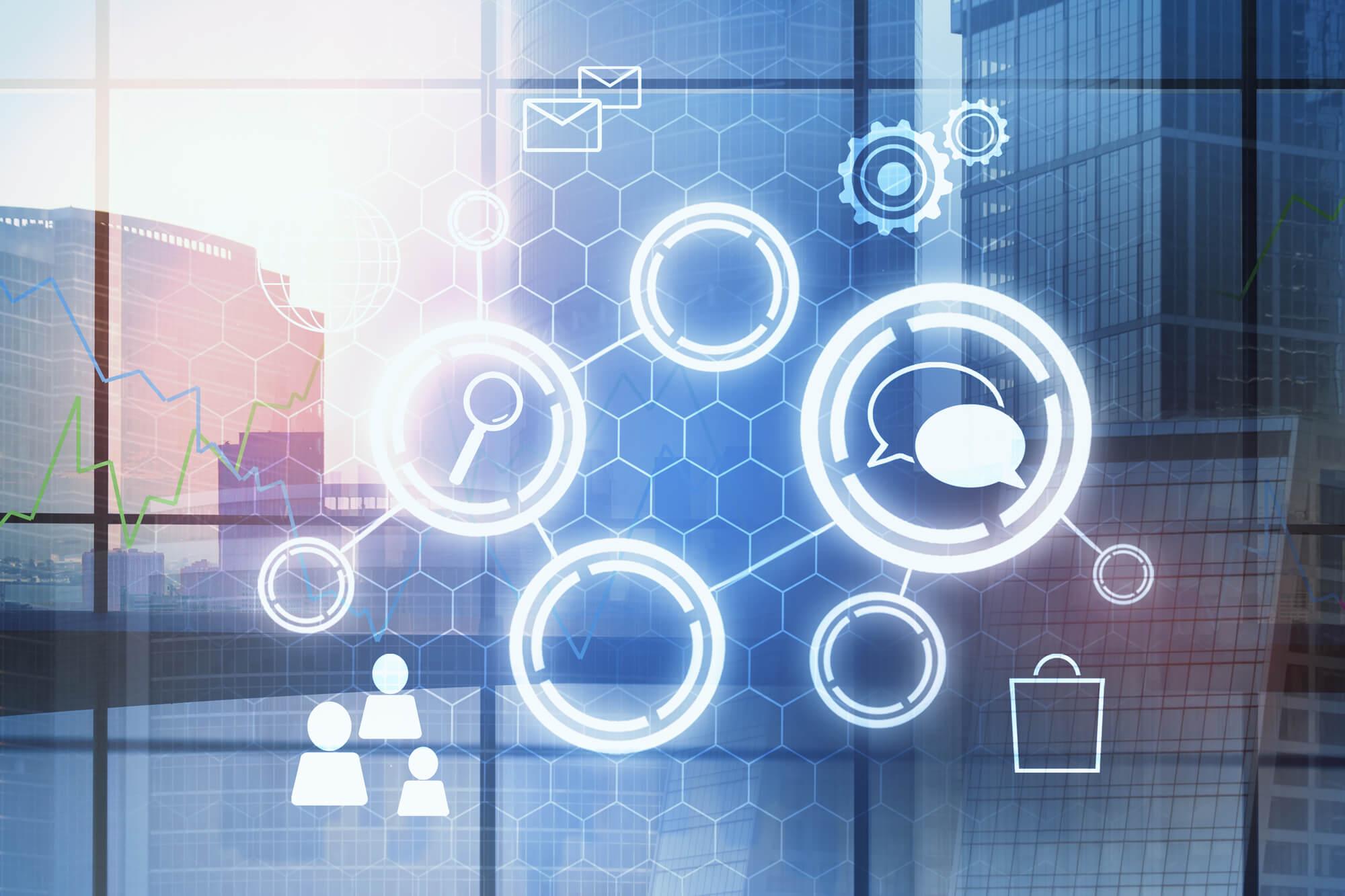 diagrama conceitual de transformação digital nas empresas