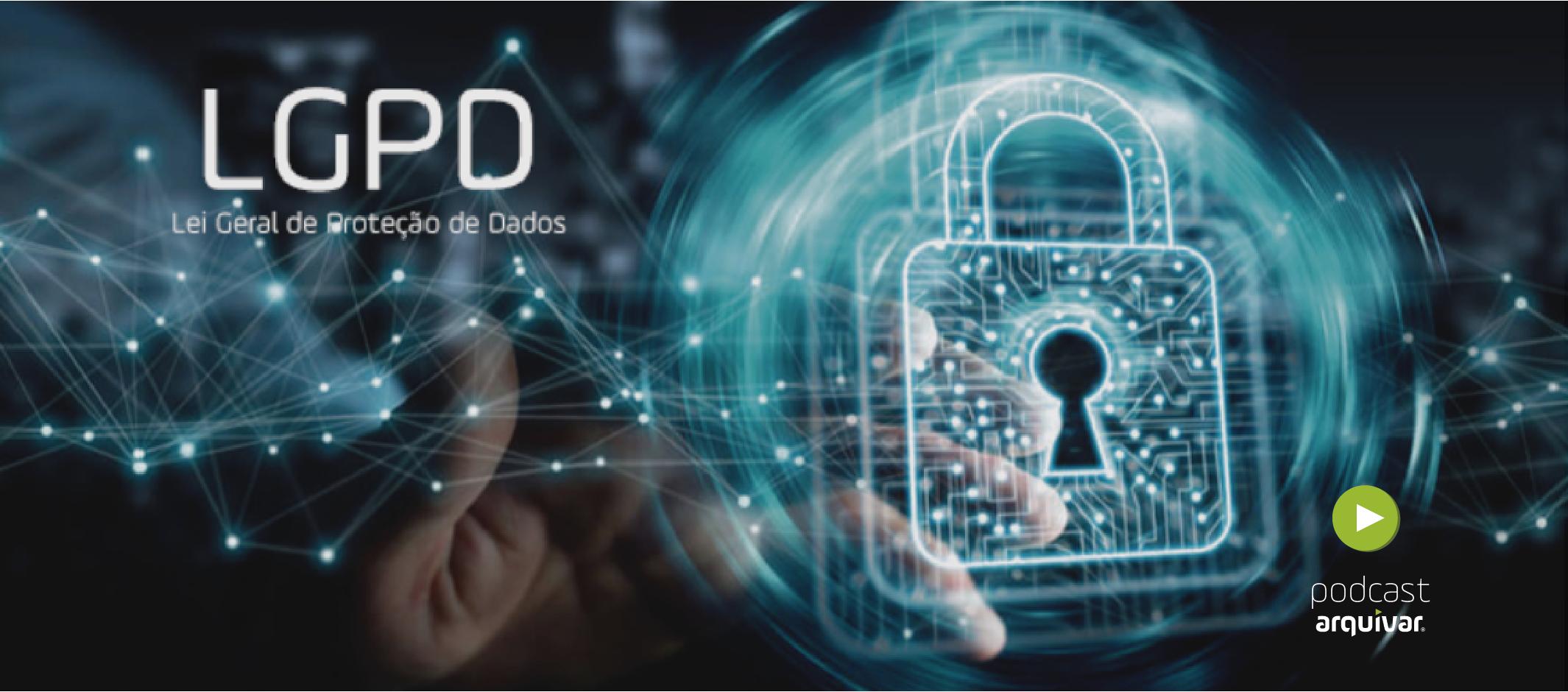 Arte conceitual da Lei geral da proteção de dados